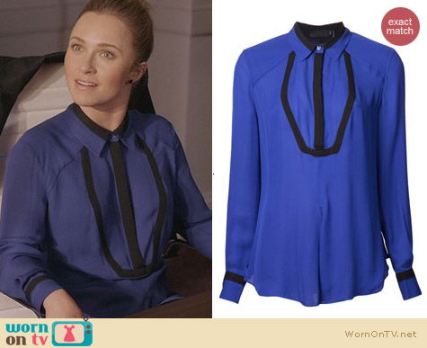 Fashion of Nashville: L.A.M.B. Classic Sheer collared Shirt worn by Hayden Panettiere