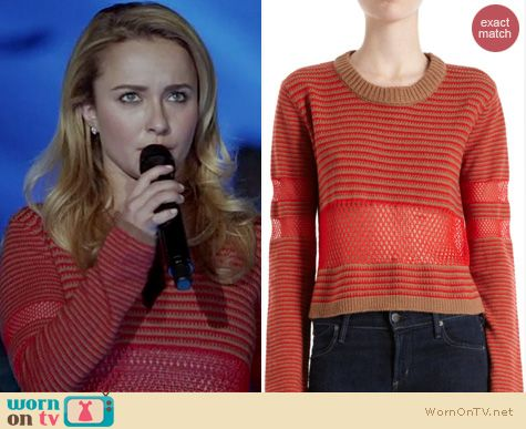Nashville Fashion: Leroy & Perry Two-tone cropped sweater worn by Hayden Panettiere