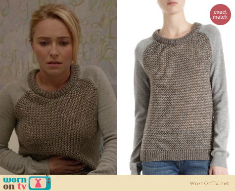 Nashville Fashion: Leroy & Perry Metallic knit sweater worn by Hayden Panettiere