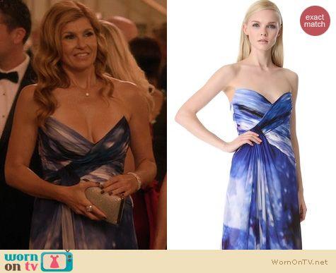 Nashville Fashion: Monique Lhuillier Gown worn by Connie Britton