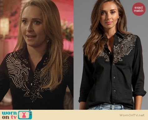 Nashville Fashion: Mother Going to California Shirt worn by Hayden Panettiere