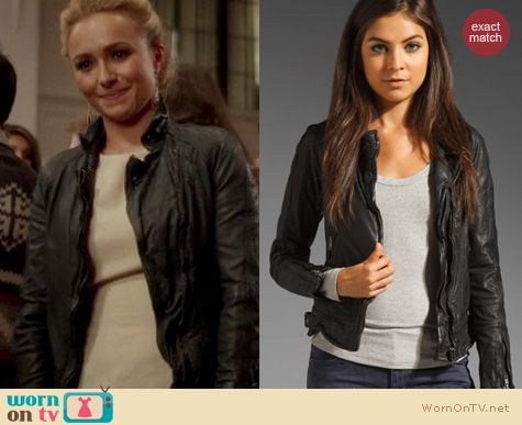 Nashville Fashion: Muubaa Nassau biker jacket worn by Hayden Panettiere