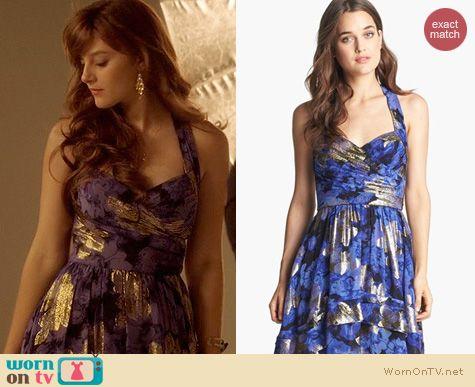Nashville Fashion: Nicole Miller Erin Secret Floral Dress worn by Aubrey Peeples