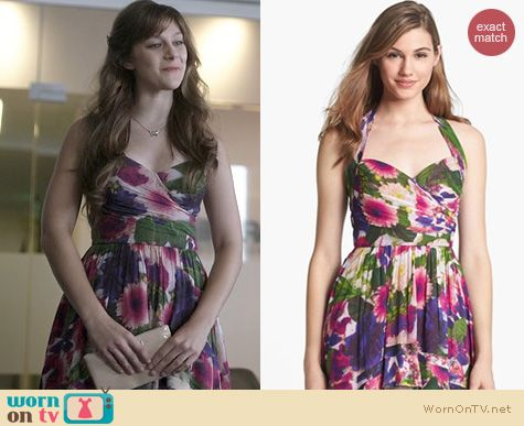 Nashville Fashion: Nicole Miller Floral Fit & Flare Dress worn by Aubrey Peeples