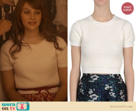 Nashville Fashion: Opening Ceremony Beaded Cropped Sweater worn by Aubrey Peeples