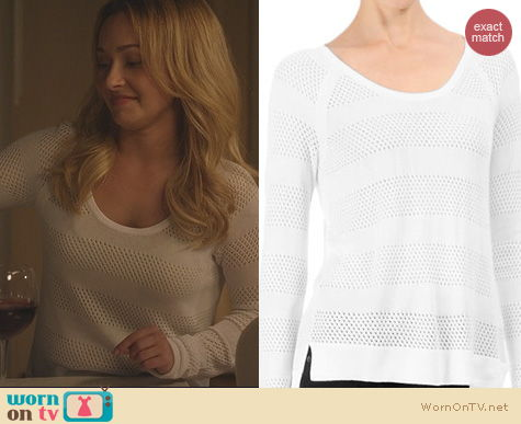Nashville Fashion: Rag & Bone Genevieve sweater in white worn by Hayden Panettiere
