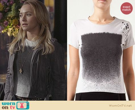 Fashion of Nashville: Raquel Allegra Splatter Tee worn by Hayden Panettiere