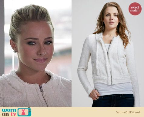 Nashville Fashion: Rebecca Taylor cream tweed jacket worn by Hayden Panettiere
