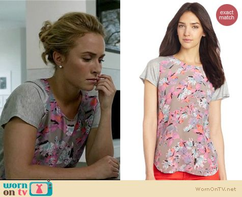 Nashville Fashion: Rebecca Taylor Tropical print tee worn by Hayden Panettiere