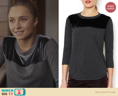 Fashion of Nashville: Rebecca Taylor Velvet Yoke Top worn by Hayden Panettiere