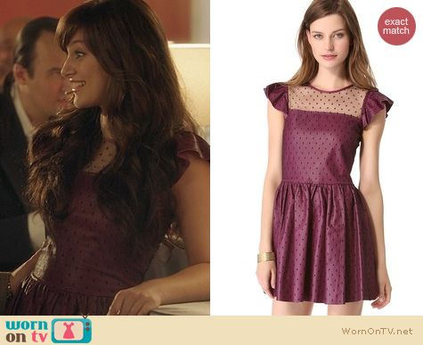Nashville Fashion: RED Valentino Leather Dot d'Esprit Dress worn by Aubrey Peeples