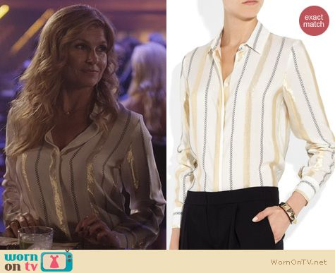 Nashville Fashion: Stella McCartney Metallic Striped Shirt worn by Connie Britton