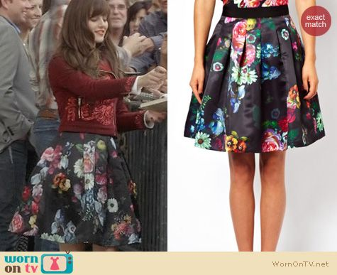 Nashville Fashion: Ted Baker Floral Skirt worn by Aubrey Peeples