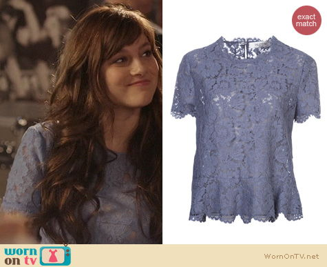Fashion of Nashville: Valentino Lace Peplum Top worn by Aubrey Peeples