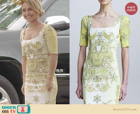 Nashville Fashion: Versace Pegasus Print Dress worn by Hayden Panettiere