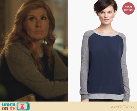 Nashville Fashion: Vince Colorblock Raglan Sweater worn by Connie Britton