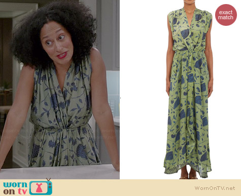 Natalie Martin Floral Nico Maxi Dress worn by Tracee Ellis Ross on Black-ish