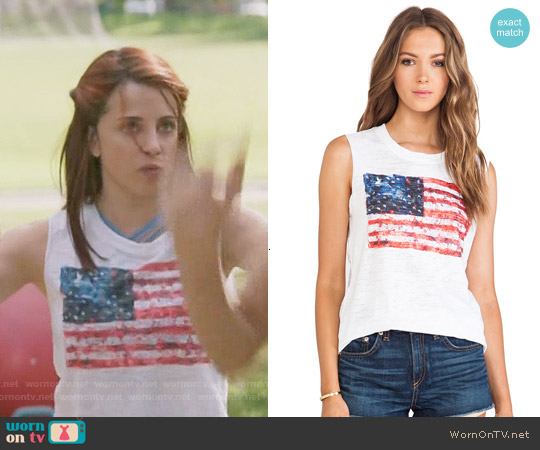 Nation Ltd Camden Tank in White Flag worn by Alanna Ubach on GG2D