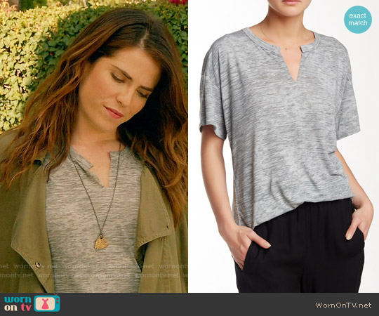 Nation LTD Karen Tee in Heather Grey worn by Karla Souza on HTGAWM
