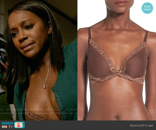 Natori 'Feathers' Underwire Contour Bra worn by Aja Naomi King on HTGAWM