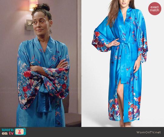 Natori Nadja Charmeuse Robe worn by Tracee Ellis Ross worn by Black-ish