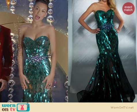 Naya Rivera Fashion: Mac Duggal 85089M Dress worn on Glee