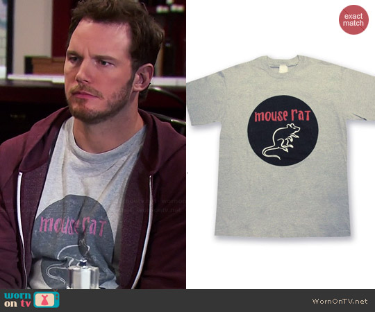 NBC Mouse Rat T-shirt worn by Chris Pratt on Parks & Rec