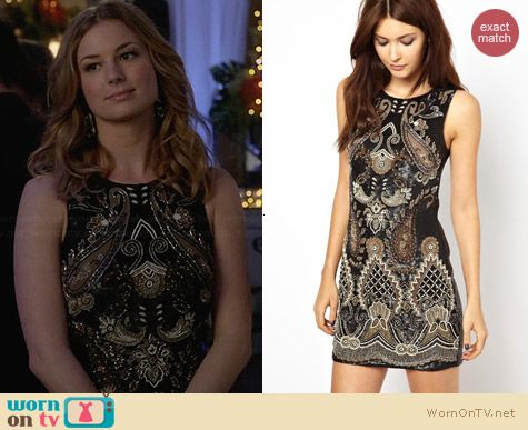 Needle & Thread Adorn Dress worn by Emily VanCamp on Revenge