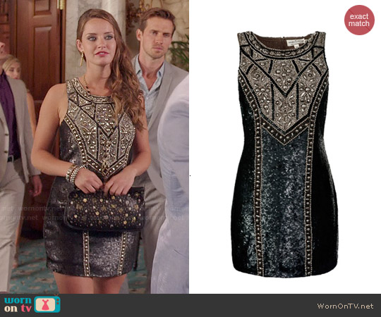 Needle & Thread Studded Contour Dress worn by Merritt Patterson on The Royals