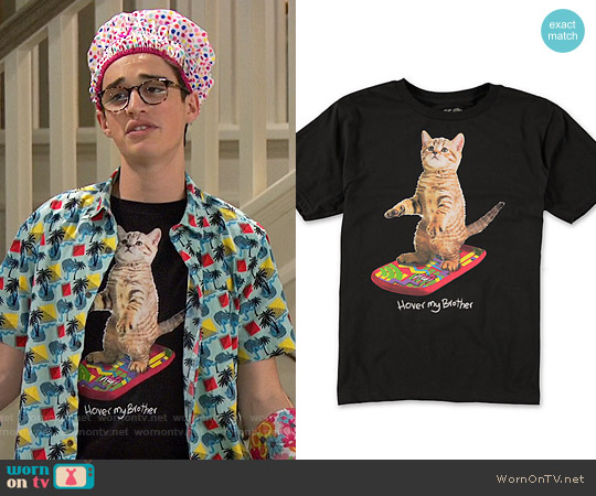 Neff Boys Hover Kitty T-Shirt worn by Joey Bragg on Liv & Maddie