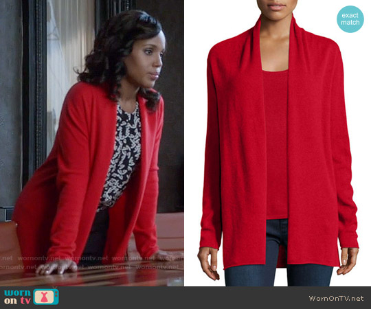 Neiman Marcus Cashmere Collection Draped Cardigan worn by Olivia Pope on Scandal