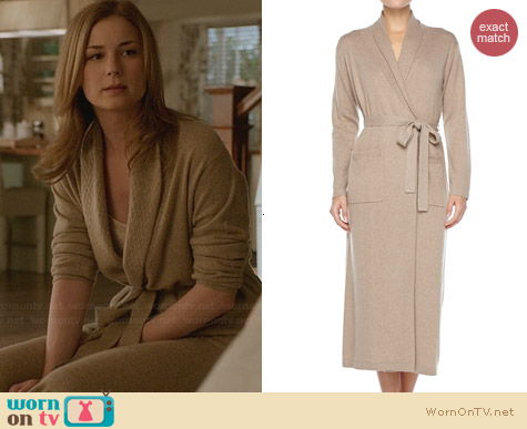 Neiman Marcus Long Cashmere-Silk Robe worn by Emily Vancamp on Revenge