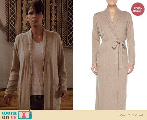 Neiman Marcus Long Cashmere Silk Robe worn by Halle Berry on Extant