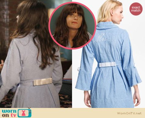 New Girl Fashion: Betsey Johnson Bridal Robe worn by Zooey Deschanel