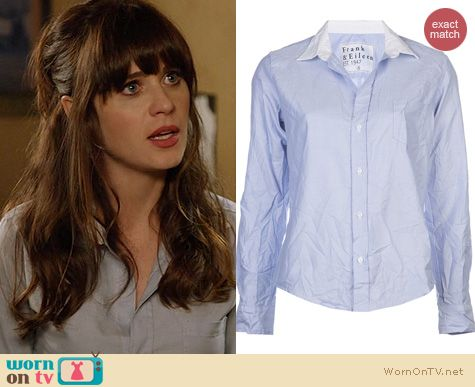 New Girl Fashion: Frank & Eileen Barry Shirt worn by Zooey Deschanel