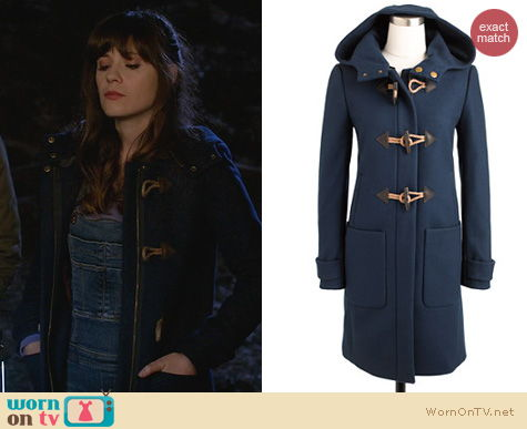 New Girl Fashion: J. Crew Convertible Toggle Coat worn by Zooey Deschanel