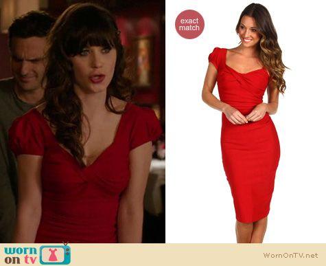 New Girl Fashion: Stop Staring Billionaire Baby dress worn by Zooey Deschanel