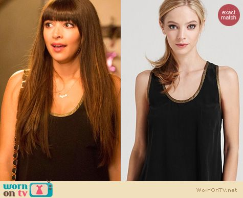 New Girl Fashion: Joie Alicia D Savory Tank worn by Hanna Simone