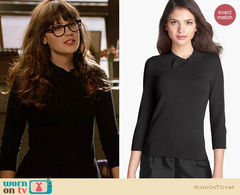 Fashion of New Girl: Kate Spade Abree Sweater worn by Zooey Deschanel