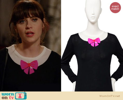 New Girl Fashion: Kate Spade Aurelie Sweater worn by Zooey Deschanel