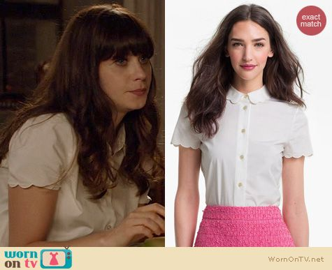 New Girl Fashion: Kate Spade Helen Top worn by Zooey Deschanel