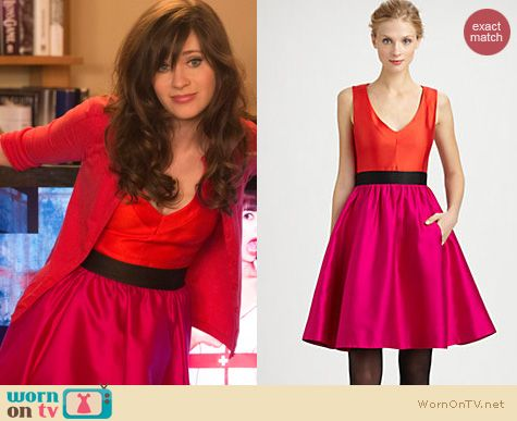 New Girl Fashion: Kate Spade Normandy dress worn by Zooey Deschanel