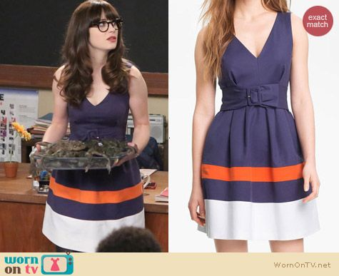 Fashion of New Girl: Kate Spade Sawyer Dress worn by Zooey Deschanel