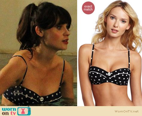 New Girl Fashion: Seafolly polka dot bikini worn by Zooey Deschanel