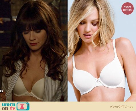 New Girl Fashion: Victoria's Secret Perfect Coverage Bra worn by Zooey Deschanel