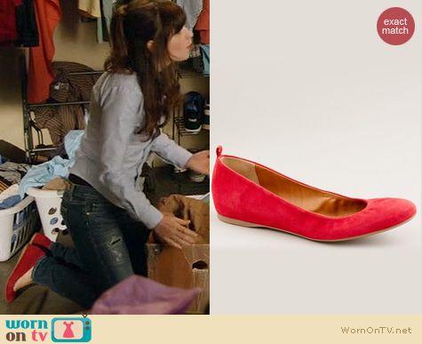 New Girl Shoes: J. Crew Cece Suede Ballet Flats worn by Zooey Deschanel