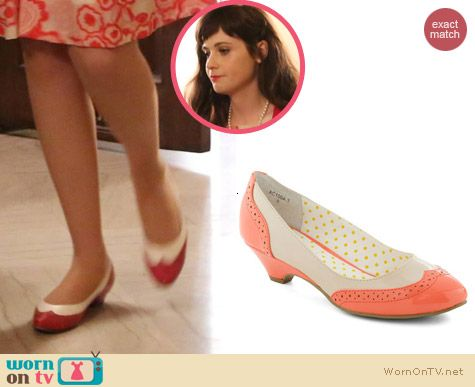 New Girl Shoes: Modcloth Sweet Spectator Heel by Bait Footwear worn by Zooey Deschanel
