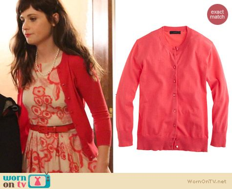 New Girl Style: J. Crew Jackie Cardigan worn by Zooey Deschanel