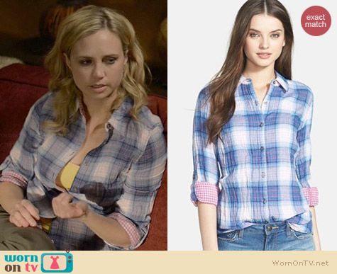 Nexx Double Faced Plaid Shirt worn by Fiona Gubelmann on Wilfred