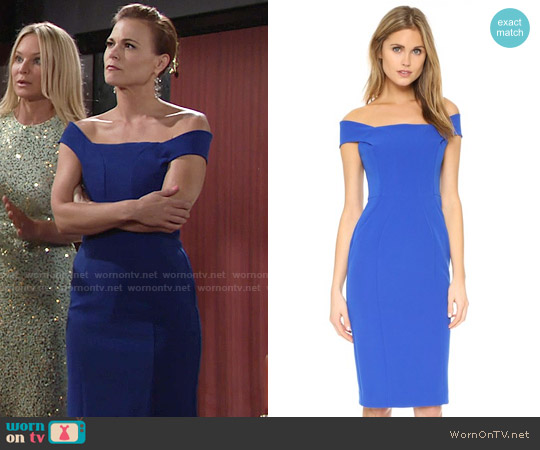 Nicholas Tech Bonded Curve Panel Dress worn by Gina Tognoni on The Young & the Restless